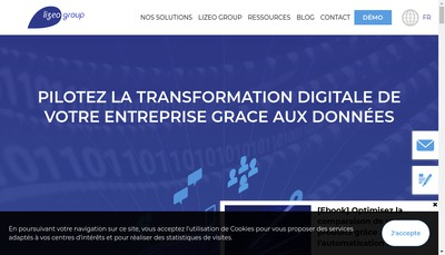 Site internet de Lizeo Online Media Group