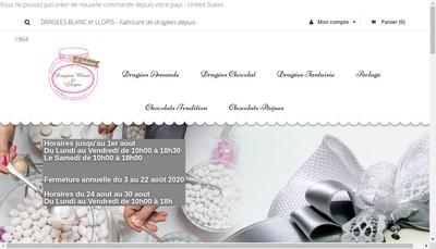Site internet de Dragees Chocolats Llopis