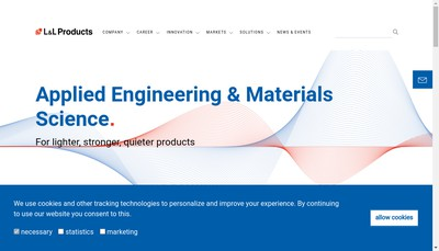 Site internet de L&L Products Europe SAS