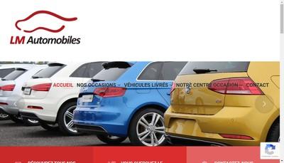 Site internet de Lm Automobiles