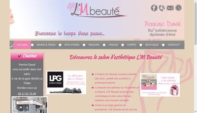 Site internet de L'M Beaute