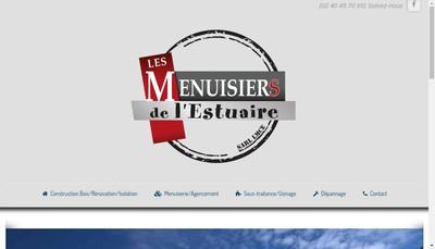 Site internet de Lmce, les Menuisiers de l'Estuaire, les Charpentiers de l'Estuaire