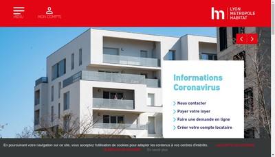 Site internet de Lyon Metropole Habitat