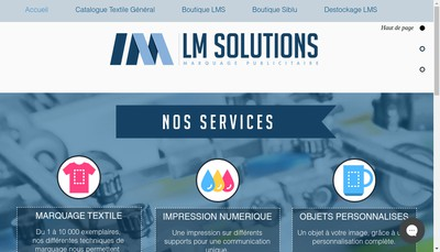 Site internet de Lm Solutions