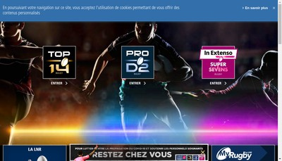 Site internet de Ligue Nationale de Rugby