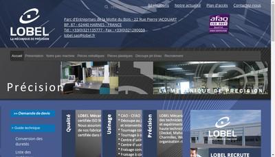 Site internet de Lobel Etablissements