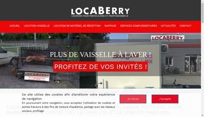 Site internet de Locaberry