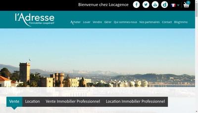Site internet de Locagence