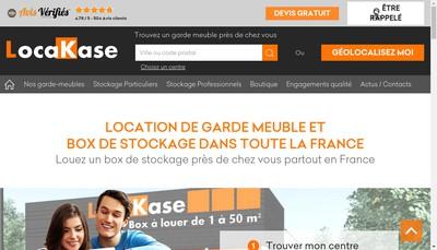 Site internet de Locakase Rhone-Alpes