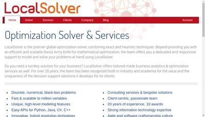 Site internet de Localsolver