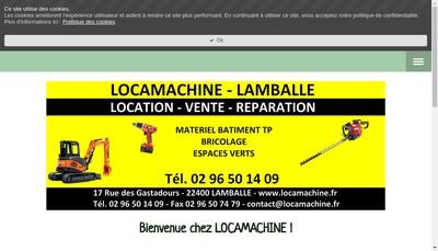 Site internet de Locamachine