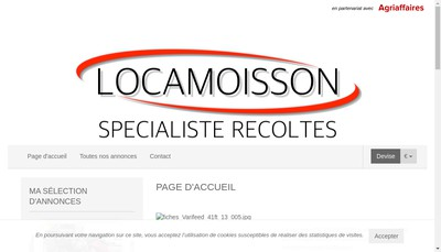 Site internet de Locamoisson