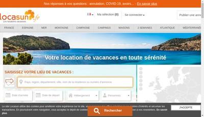 Site internet de Locasun Fr Locasun Locasun Com