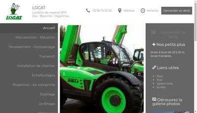 Site internet de Locat