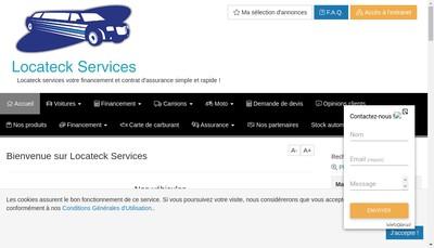 Site internet de Locateck Services