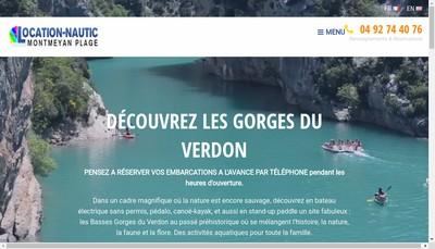 Site internet de Location Nautic