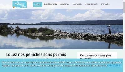 Site internet de Les Peniches de Thau