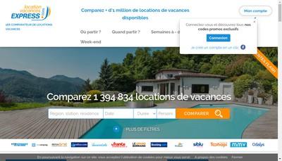 Site internet de Location Vacances Express