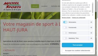Site internet de Michel Sports