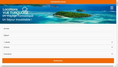 Site internet de Vue Turquoise