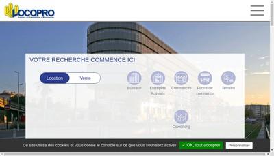 Site internet de Locopro Entreprises