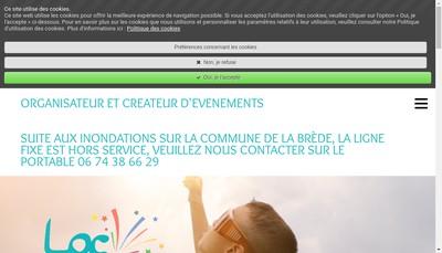 Site internet de Locsport