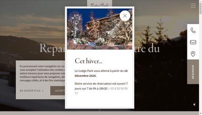 Site internet de Le Lodge Park