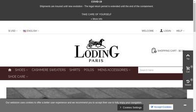 Site internet de Loding