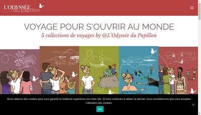 Site internet de SAS l'Odyssee du Papillon