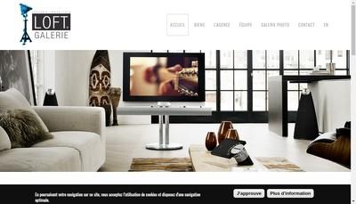 Site internet de Loft Galerie