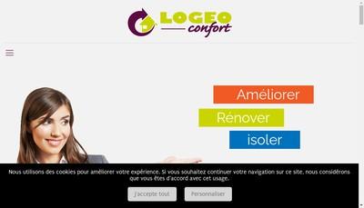 Site internet de Logeo Confort