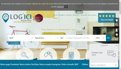 Site internet de Rouchou Immobilier