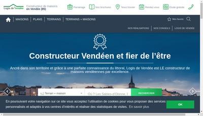 Site internet de Logis de Vendee