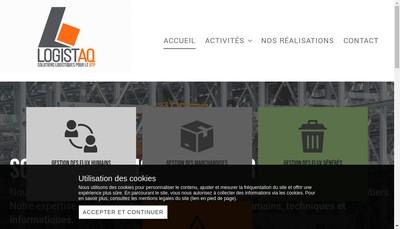 Site internet de Logistaq