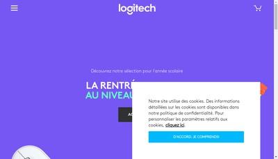 Site internet de SAS Logitech France