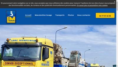 Site internet de Loire Manutention