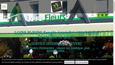 Site internet de Loire Fleurs