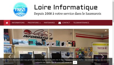 Site internet de Loire Informatique