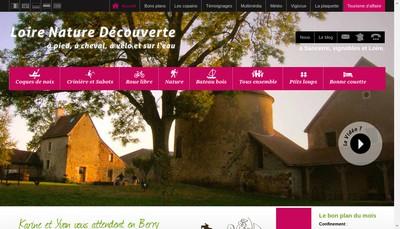 Site internet de Loire Nature Decouverte