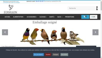 Site internet de L'Oisillon