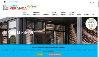 Site internet de Loisirs Veranda