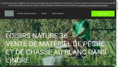 Site internet de Loisirs Nature 36