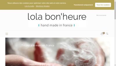 Site internet de Lola Bon'Heure
