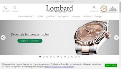 Site internet de Lombard Joaillier
