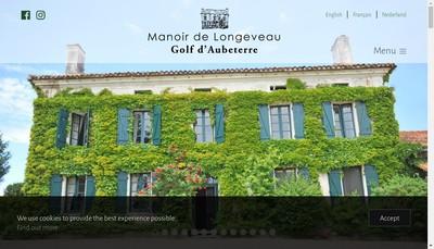 Site internet de Le Manoir de Longeveau