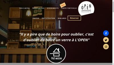 Site internet de L'Open