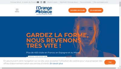 Site internet de L'Orange Bleue