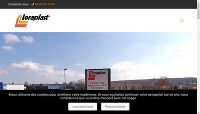 Site internet de Loraplast (R)