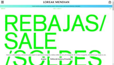 Site internet de Loreak Mendian