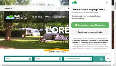 Site internet de Camping l'Oree du Lac